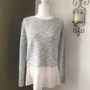 White House Black Market Knit overlay blouse